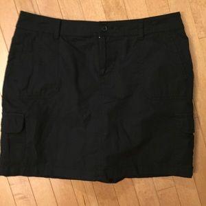 St. John's Bay Size 14 Black Skort